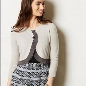 ANTHROPOLOGIE Guinevere Cropped Cardigan